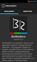 Screenshot of BioRhythms