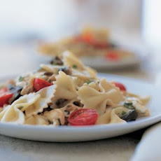 Farfalle with Roasted Garlic and Eggplant