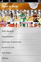 Screenshot of Qatar Olympic Committee