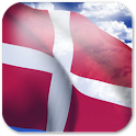3D Denmark Flag + icon