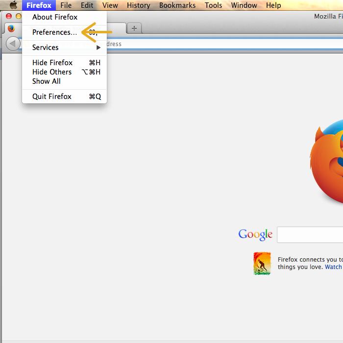 Firefox - Menu