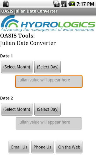 OASIS Julian Date Converter