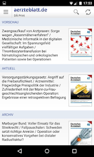 aerzteblatt.de Screenshot