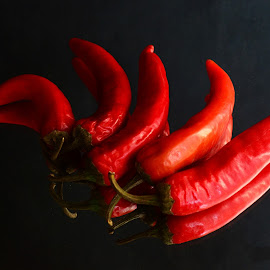 The Flame by Prasanta Das - Food & Drink Ingredients ( red, chilies, composition, flame )