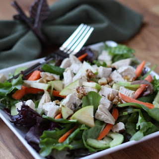 Turkey and Walnut Salad with Cranberry Dressing