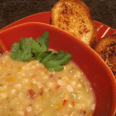Smoked Corn and Pepper Chowder