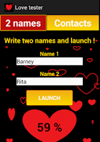 Screenshot of Compatibility love tester