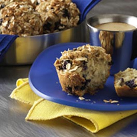 Lemon Blueberry Oatmeal Muffins