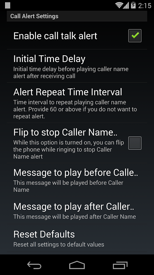 Talk Caller Name PRO Screenshot 3