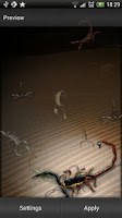 Screenshot of Scorpion Live Wallpaper