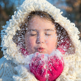 Snow by Stacy Abbott - Babies & Children Children Candids ( blowing, snow, white, pink, frozen )