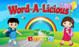 Screenshot of ABC Wordalicious Flashcards