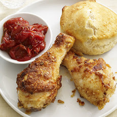 Drumsticks With Biscuits and Tomato Jam