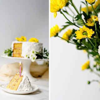 Coconut and Hazelnut cake + 1st Blogiversary + A Giveaway