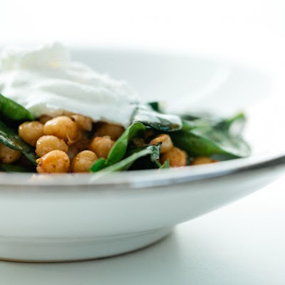 Harissa Chickpeas with spinach