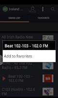 Screenshot of Ireland Radio