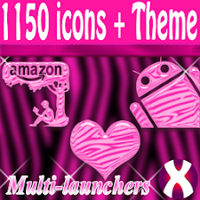 Pink Zebra theme and icon pack