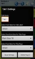 Screenshot of My Binder: Tabbed Notes
