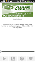 Screenshot of AWR Kiswahili Radio