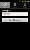 Screenshot of IBM SmartCloud Meetings