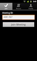 Screenshot of IBM SmartCloud Meetings