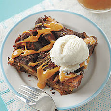 Double Chocolate Bread Pudding with Dulce de Leche