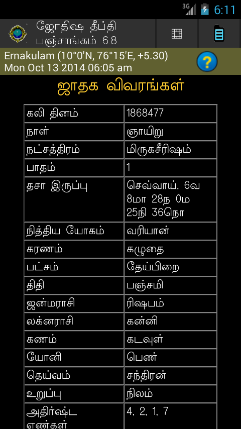 JyothishaDeepthi Tamil 5.8 APK Download - astrology ...