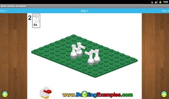 Screenshot of Brick animal examples