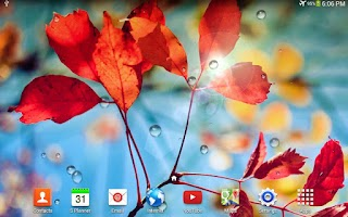 Screenshot of Galaxy S4 Rain Live Wallpaper