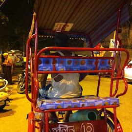 HAND PULLED RICKSHAW by Rajesh Wadhwa - Transportation Other ( cyclamen, transport, rickshaw, india, street photography )
