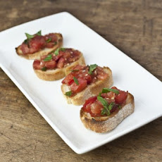 Fresh Tomato Bruschetta with Basil Recipe