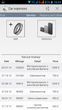 Car Expenses APK screenshot thumbnail 3