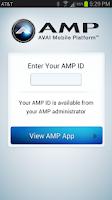 Screenshot of AMP App