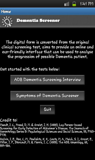 Dementia Screener