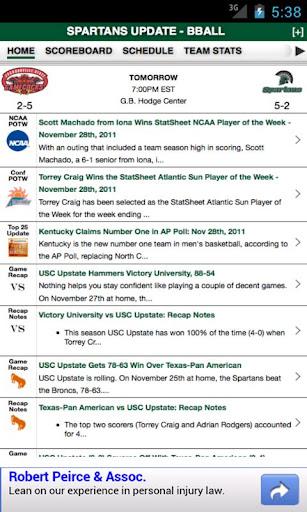 USC Upstate Basketball