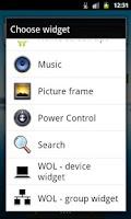 Screenshot of WOL - Wake on Lan (widget)