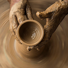 Bowl in the making.. by Rakesh Syal - Artistic Objects Other Objects