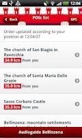 Screenshot of Bellinzona Guide (English)