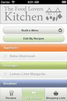 Screenshot of myKitchen