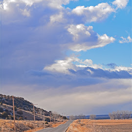by Angie Arnold - Landscapes Cloud Formations ( clouds, montana, outdoors, road, landscape )