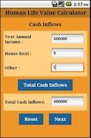 Screenshot of Human Life Value Calculator