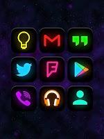 Screenshot of Neon Glow - Icon Pack