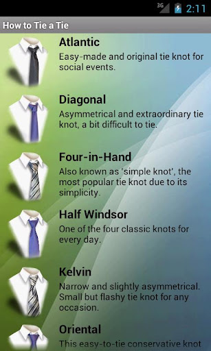 how-to-tie-a-tie for android screenshot