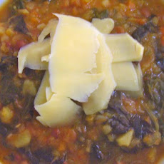 Lentil and Macaroni Soup
