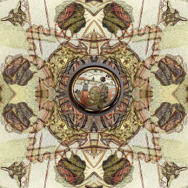 Japanese roundel 02 by Michael Moore - Digital Art Abstract