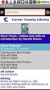 Carver County Library Mobile - screenshot