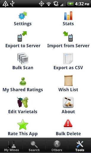 Wine + List, Ratings & Cellar - screenshot