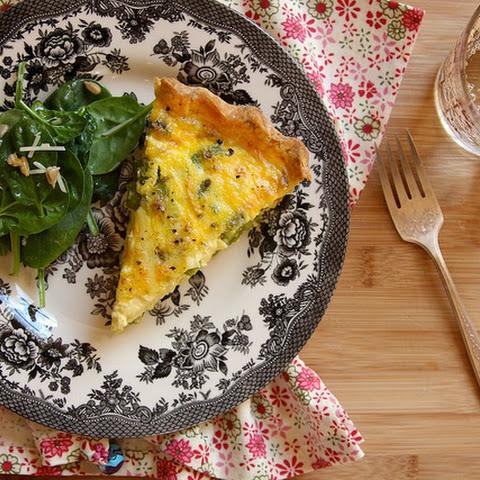 Gluten-Free Asparagus Quiche