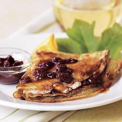 Goat Cheese Crepes with Fig Jam