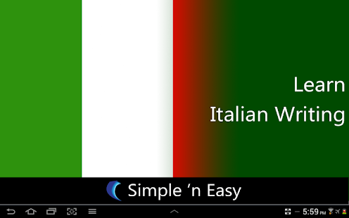 Learn Italian Writing - screenshot